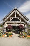 Farm stand rural vermont. Retail farm stand with plants and pumpkins rural vermont usa Royalty Free Stock Image