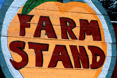 Farm stand sign Royalty Free Stock Photo