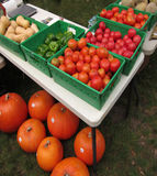 Farm Stand Table Royalty Free Stock Photography