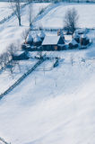 Farm, Stead in Winter at Mountains Royalty Free Stock Photos