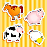 Farm Stickers Stock Photos
