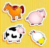 Farm Stickers Stock Photos