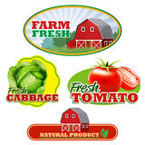 Farm stickers Royalty Free Stock Images