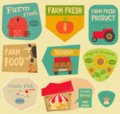 Farm Stickers Stock Images