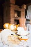 Farm-style meal on table