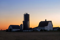 Farm At Sunrise Royalty Free Stock Photos