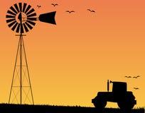 Farm Sunset Stock Photo
