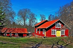 Farm in Sweden. Royalty Free Stock Photography