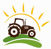 Farm symbol. A illustration of  farm tractor  symbol graphic Royalty Free Stock Photography