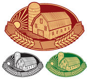 Farm symbol Stock Photography