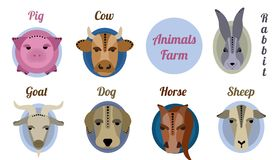 Flat icon animal farm royalty free stock photos