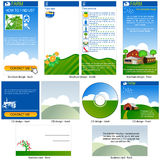 Farm template design Stock Photos