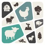 Farm theme background Stock Image