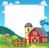 Farm Theme Frame 1 Royalty Free Stock Photos