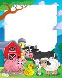 Farm theme frame 2 Royalty Free Stock Photography
