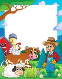 Farm theme frame 3 Royalty Free Stock Images