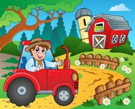 Farm theme with red barn 9 Stock Image