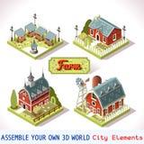 Farm Tiles 03 Set Isometric Royalty Free Stock Photo