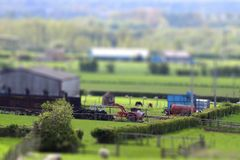 Farm tilt and shift A Royalty Free Stock Image