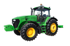 Farm tractor with big wheels Royalty Free Stock Photography