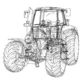 Farm Tractor Concept. Vector vector illustration