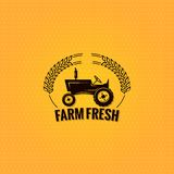 Farm tractor design background Royalty Free Stock Photos
