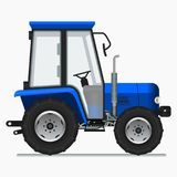 Farm Tractor. Editable Farm Tractor Vector Illustration royalty free illustration
