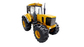 Farm tractor. Isolated on a white background stock images