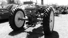 Farm Tractor. Old fashion farm tractor. Restored. On display Royalty Free Stock Photo