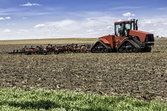 Farm with tractor royalty free stock photos