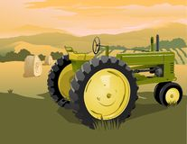 Farm Tractor Scene Stock Photos