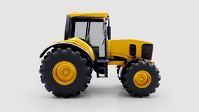 Farm tractor in studio Stock Image