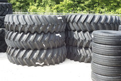 Farm Tractor Tires. Front and back farm tractor tires Stock Images