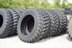 Farm Tractor and Truck Tires. Truck and farm tractor tires for sale at a tire dealer Stock Images