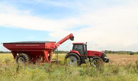 Farm Tractor and Wagon Stock Photography