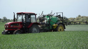 Farm tractor work stock video footage