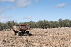 Farm trailer Royalty Free Stock Photography