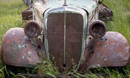 Farm truck left to rust and rot Stock Photo