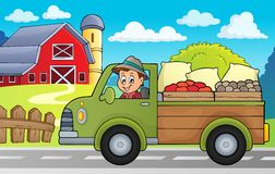 Farm truck theme image 3 Royalty Free Stock Image