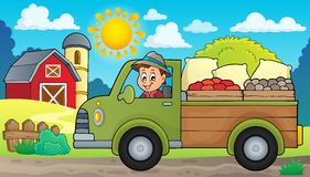 Farm truck theme image 2 Stock Images