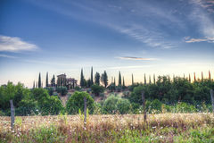 Farm in Tuscany Stock Images