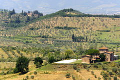 Farm in Tuscany near Artimino Stock Images