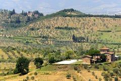 Farm in Tuscany near Artimino Stock Images