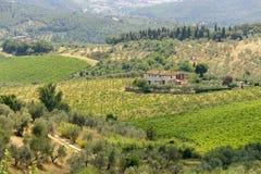 Farm in Tuscany near Artimino Royalty Free Stock Photo