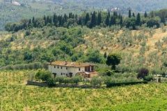 Farm in Tuscany near Artimino Stock Photos