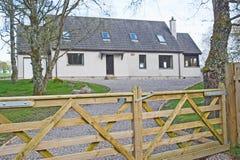 Farm type double gate on house Royalty Free Stock Photo