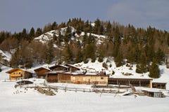 Farm under snow Royalty Free Stock Photography