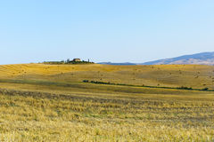 Farm in Val d'Orcia (Tuscany) Royalty Free Stock Images