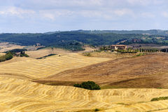 Farm in Val d'Orcia (Tuscany) Royalty Free Stock Photography