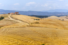 Farm in Val d'Orcia (Tuscany) Royalty Free Stock Image